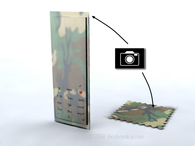 printed electronics nanotech Customizable transparent cellphone